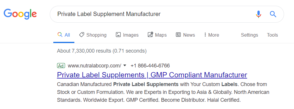 Find Private Label Manufacturer