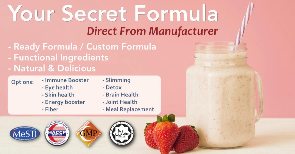 Custom Formula OEM Food Supplement Malaysia Manufacturer